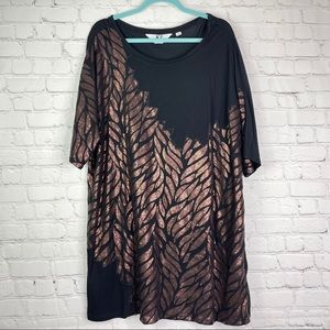 KZ Karen Zambos Falling Leaves Sequin Tunic 1X